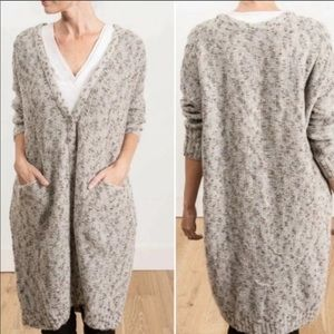 Inhabit wool blend oversized beige cardigan
